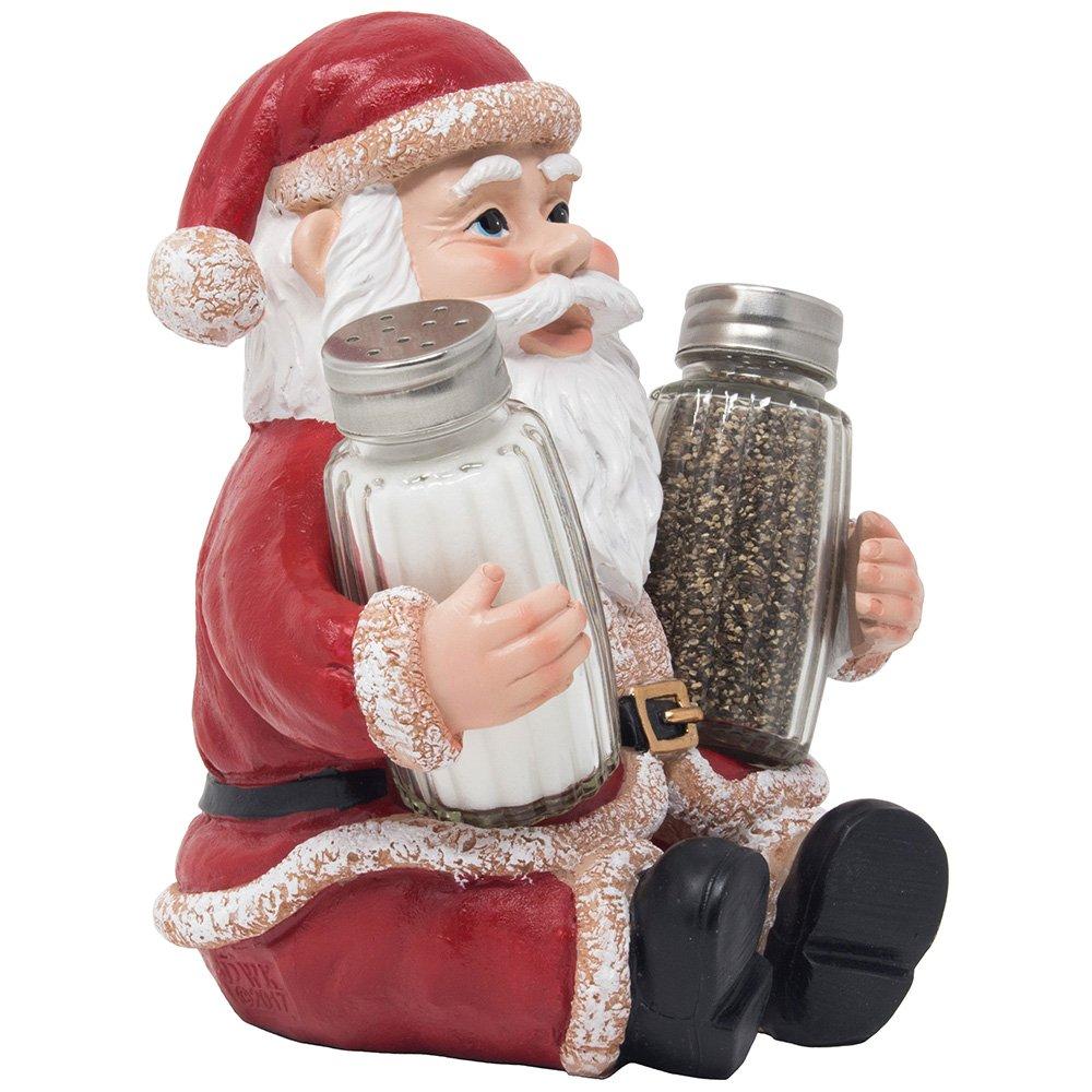 Whimsical Santa Claus Salt and Pepper Shaker Set Figurine As Display ...