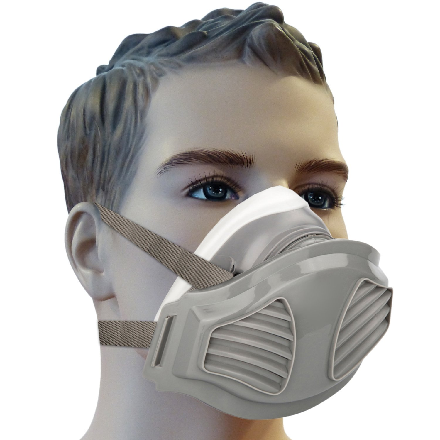Mufly Half Anti Respirator Face Protection Silicone Dust Safety Mask Paint Work for Chemical Industry