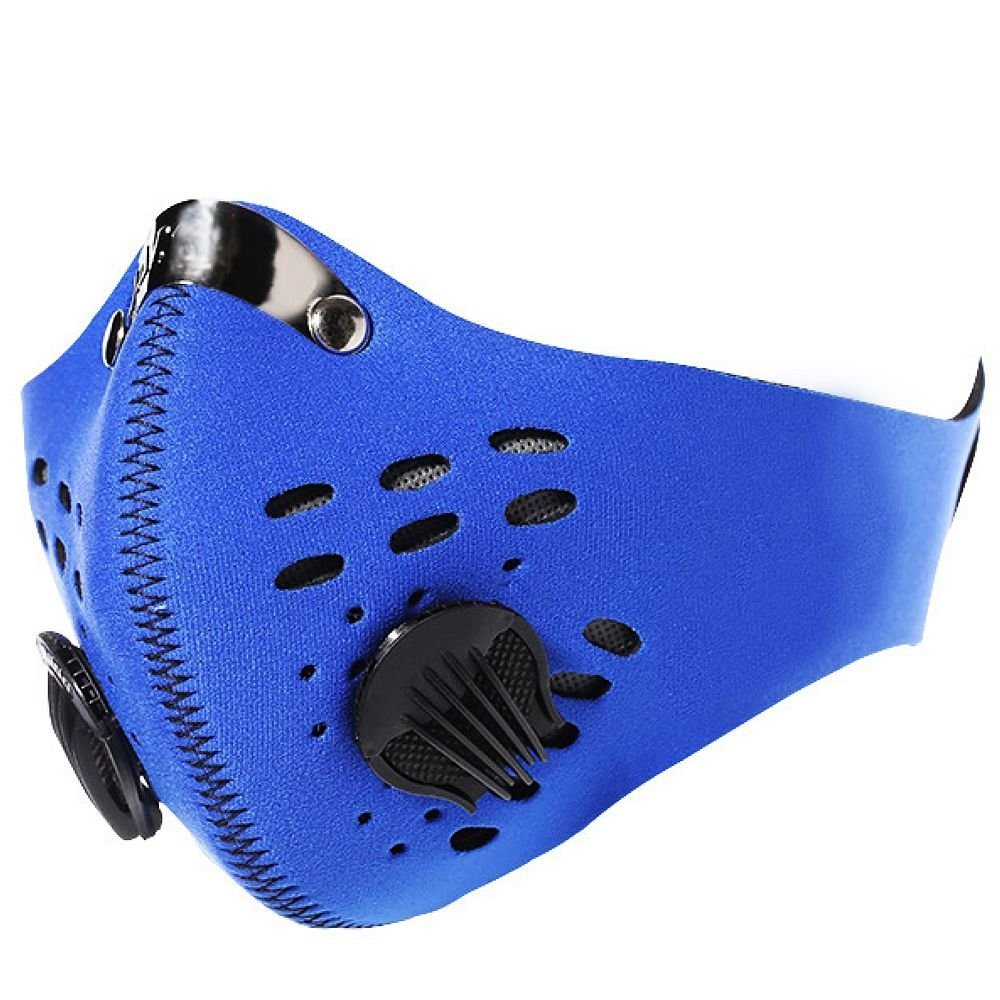 DLP Tactical Hostile Environment Cycling / Running / Training Carbon Filtration Neoprene Face Mask (Blue) by DLP Tactical