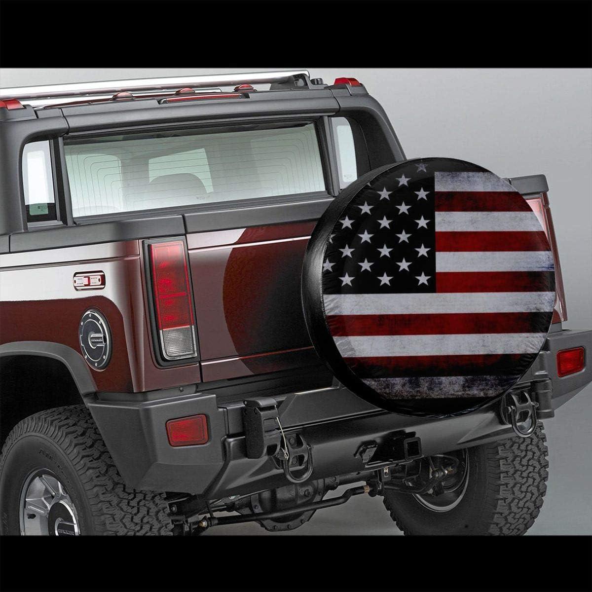 JADETADELA Scottish Flag Lion Spare Tire Cover Waterproof Wheel Tire Sun Protector Universal