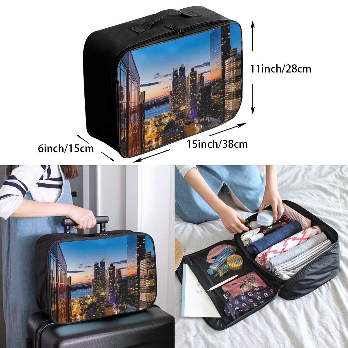 Travel Luggage Duffle Bag Lightweight Portable Handbag New York City Large Capacity Waterproof Foldable Storage Tote