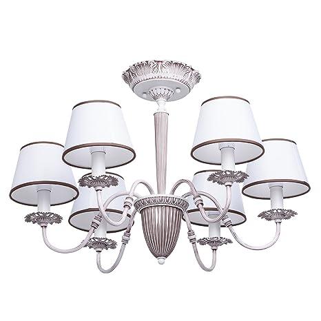 Lampadario Delicato Grande Moderno Classico in Metallo Colore Bianco ...