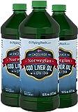 Amazon Com Carlson Cod Liver Oil Lemon 1 100 Mg Omega