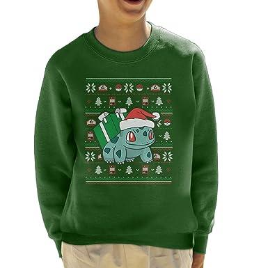 6aef280b Cloud City 7 Christmas Bulbasaur Knit Pattern Pokemon Kid's ...