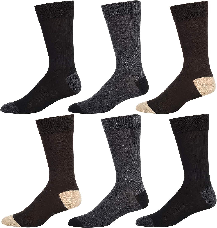 Kenneth Cole New York Men's 6 Pack Flat Knit Crew Socks