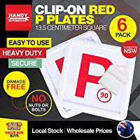 Handy Hardware 6PCE Red P Plates Clip-On | Easy to Use (NSW Only) Free Post