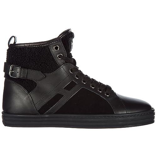 Hogan Rebel Sneakers Alte Donna Nero 36.5 EU  Amazon.it  Scarpe e borse c6e034f8c33