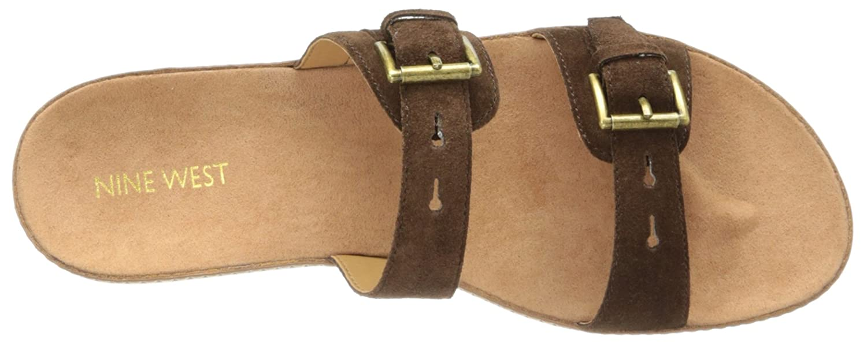 Nine West Women's Ticktock Suede Platform Sandal B00I98R5BW 7.5 B(M) US|Brown Suede