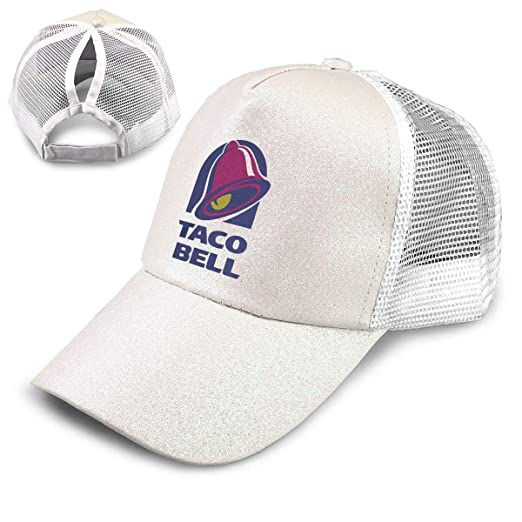 0f9bac02ea647 Amazon.com  Taco Bell Ponytail Messy High Bun Hat Ponycaps Baseball Cap  Adjustable Trucker Cap Mesh Cap  Sports   Outdoors