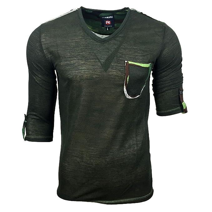 Camouflage Herren T Shirt Militär Baumwolle Khaki Army US