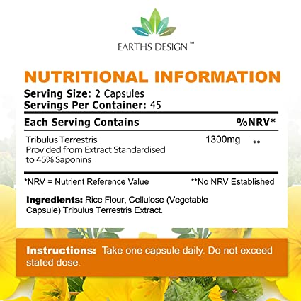 Amazon.com: Tribulus Terrestris Extract, suplemento de ...
