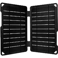 Renogy 12V Solarmodul 10W Solarpanel Solarzelle Monokristallin Photovoltaik Solarmodul tragbar für Camping,Klettern,USB-Ausgang,Schwarz