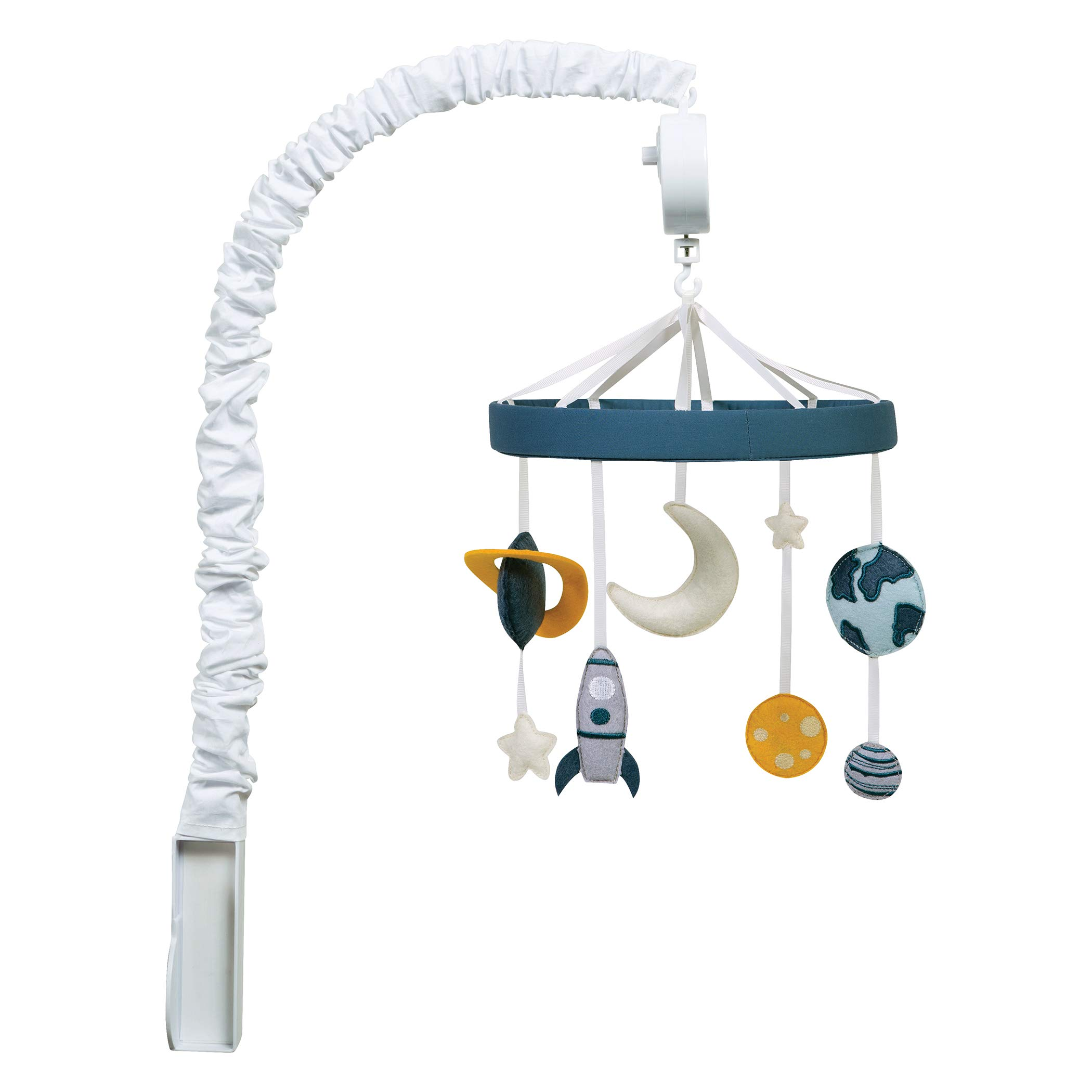 Trend Lab Galaxy, Stars, Moon, Planet Musical Crib Mobile, Baby Mobile, Nursery by Trend Lab