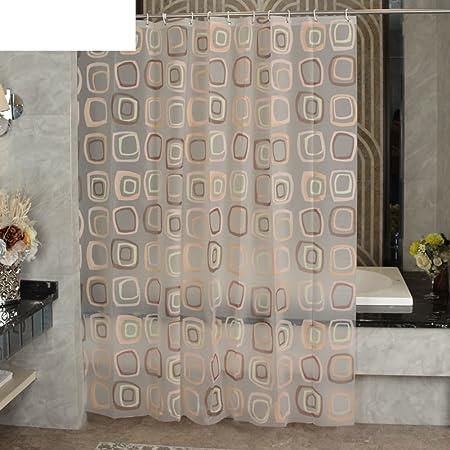 Cortinas de ducha Cuarto de baño engrosamiento cortina impermeable de tela Mampara de ducha cortina colgante-A 180x200cm(71x79inch): Amazon.es: Hogar
