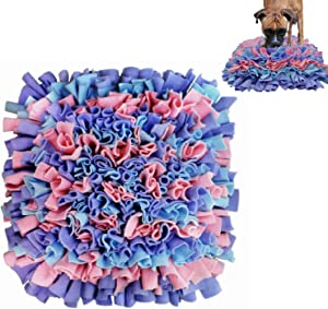 Liakk Pet Snuffle Mat for Dogs, Dog Feeding Mat Travel Use,Interactive Feed Game for Boredom, Encourages Natural Foraging Skills for Cats Dogs Bowl (Pink&Purple&Blue)