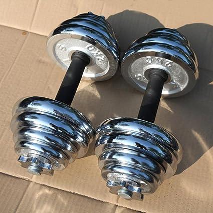 rhegeneshop ajustable fundido hierro gimnasio fuerza peso – Juego de pesas Par total 22 – 110
