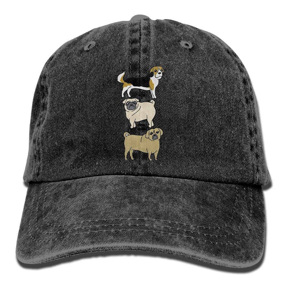 Puggle Equation Adult Cowboy Hat Baseball Cap Adjustable Athletic Personalized Sports Hat for Men and Women