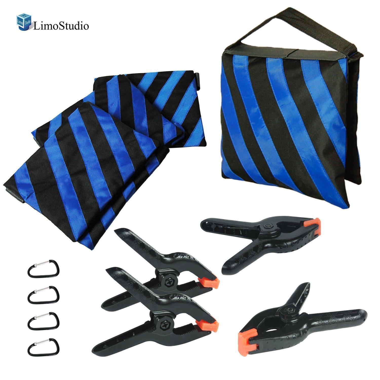 LimoStudio, AGG360, 4 Pcs Saddlebag Sandbags Sandbag new Sand Bags Heavyduty Saddle Bag Holds 20lbs Weight Bags for Photo Video Studio Stand