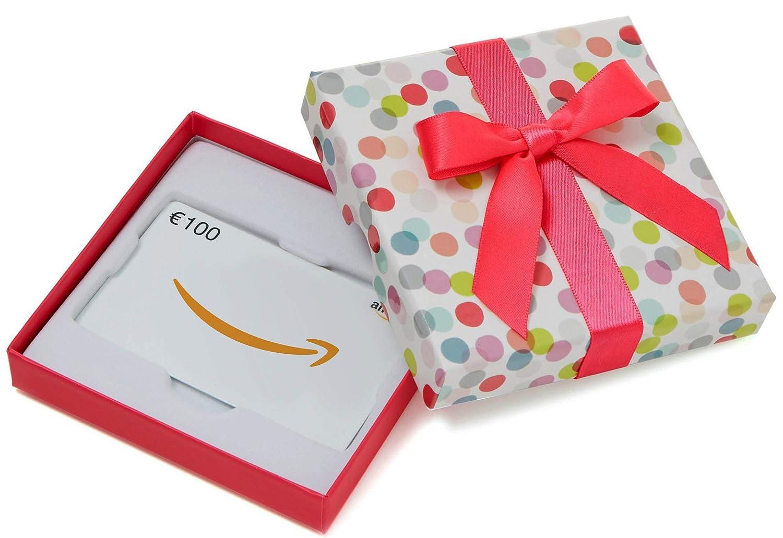Amazon.de Geschenkkarte in Geschenkbox (Bunte Punkte) - mit kostenloser Lieferung per Post Amazon EU S.à.r.l.