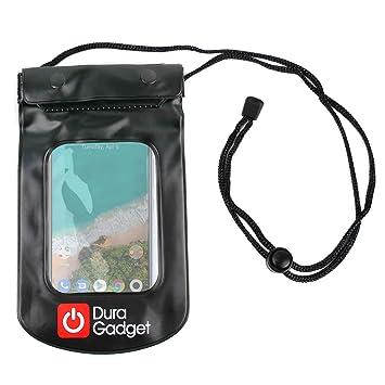 DURAGADGET Funda Impermeable Negra Compatible con Smartphone ...