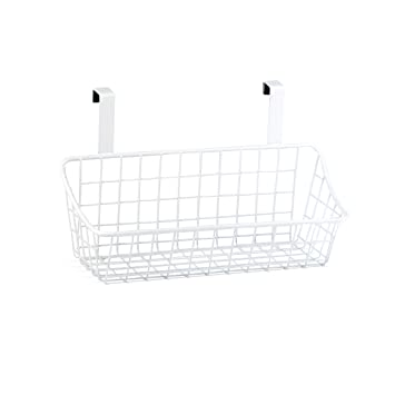 Spectrum Diversified Grid Storage Basket, Small, White
