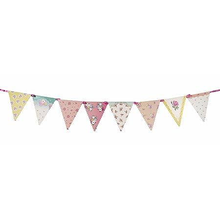 Talking Tables banderines con detalle floral 'Truly Scrumptious' 'Ts3.' Rosa, Azul, amarillo y blanco. Carton.
