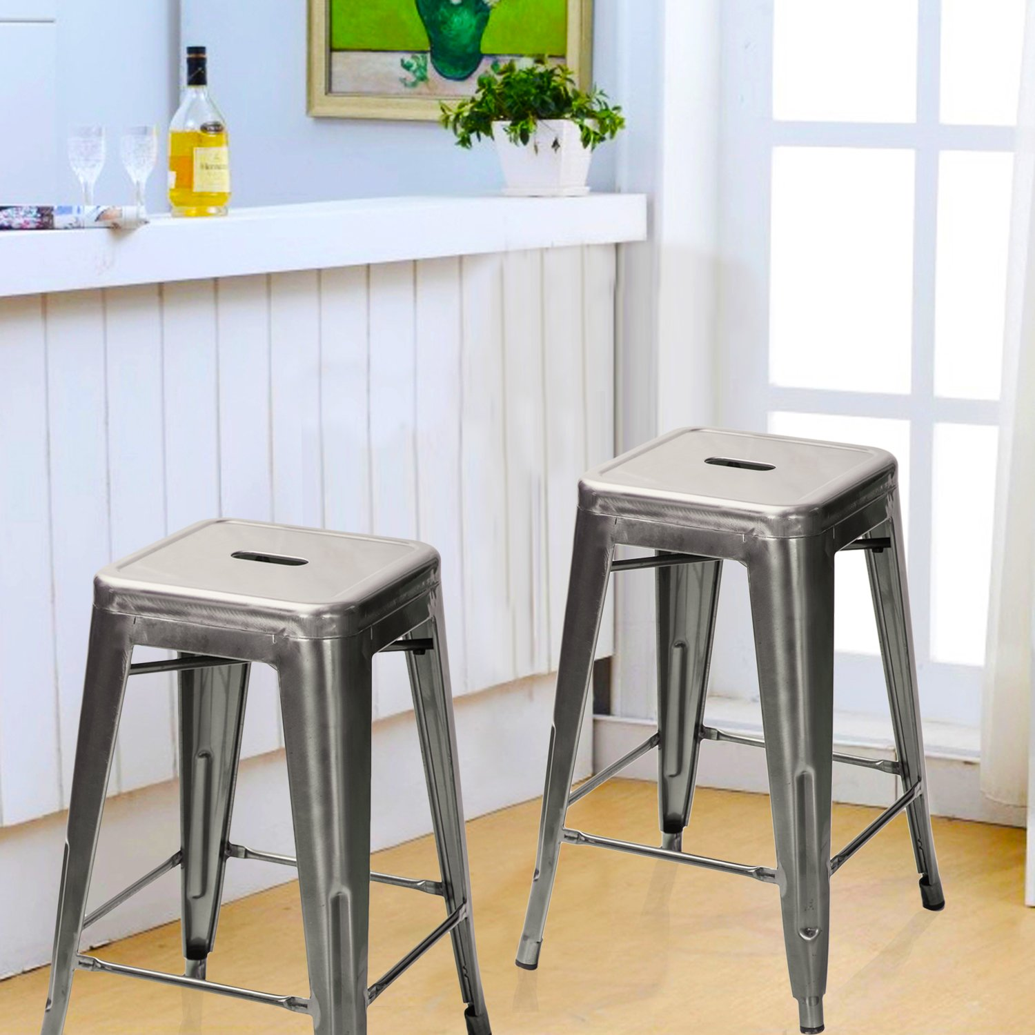 Counter Stools With Arms Part - 20: Amazon.com