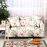 Hotniu Brushed Couch Sofa Covers Printed Sofa Slipcover Reversible 1 Piece Elastic Sofa Protector for furniture Loveseat Sofa Covers (2 Seater, Pattern #2)