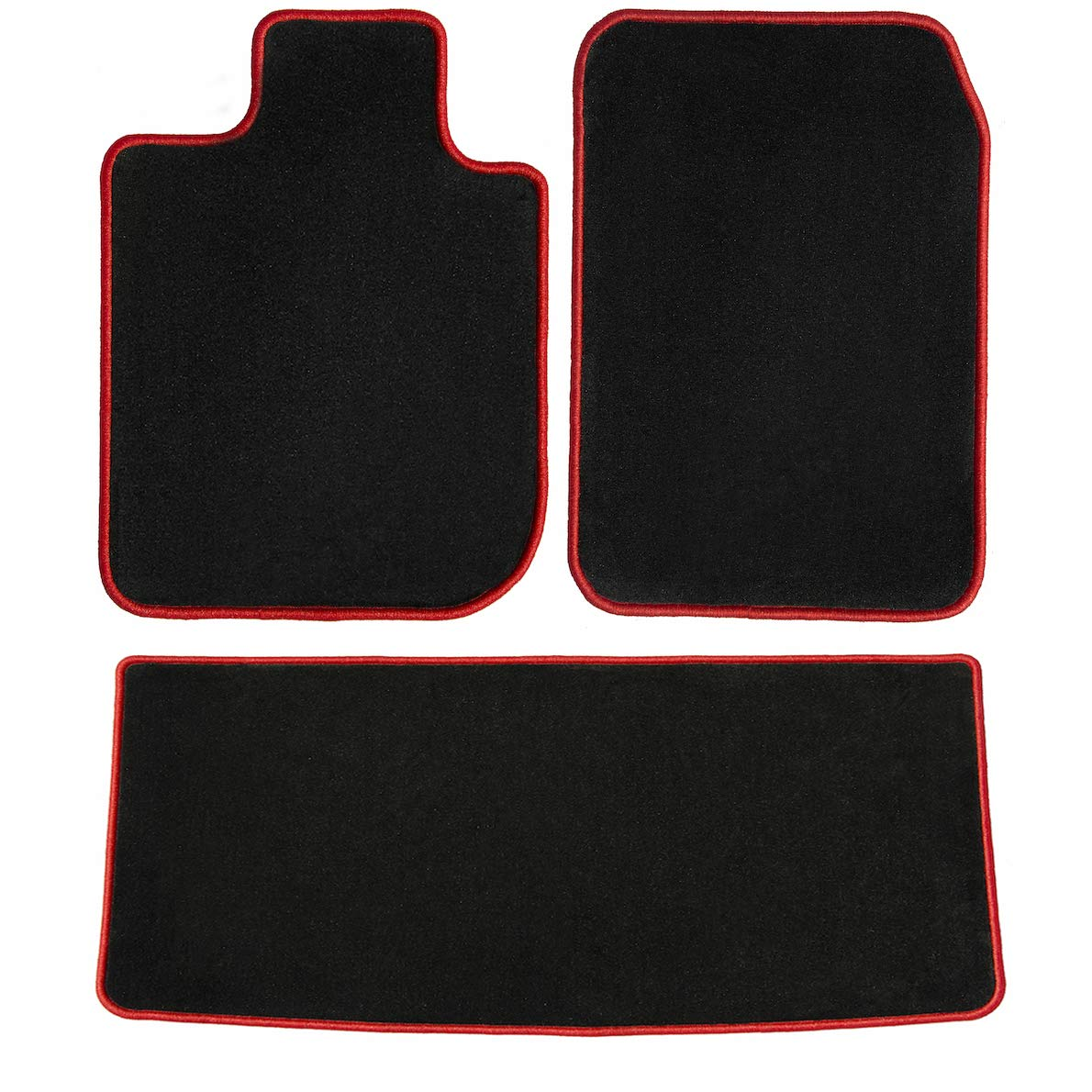 2008 2009 2010 GGBAILEY D4548A-S2B-BLK/_BR Custom Fit Car Mats for 2007 Passenger /& Rear Floor 2011 Honda CR-V Black with Red Edging Driver