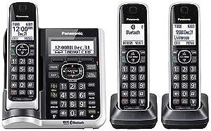 Panasonic KX-TG883SK (3 Handset) Cordless Phone - Digital Answering System Bluetooth Link2Cell DECT 6.0 - Base KX-TG885SK, H-S KX-TGFA61B (Renewed)