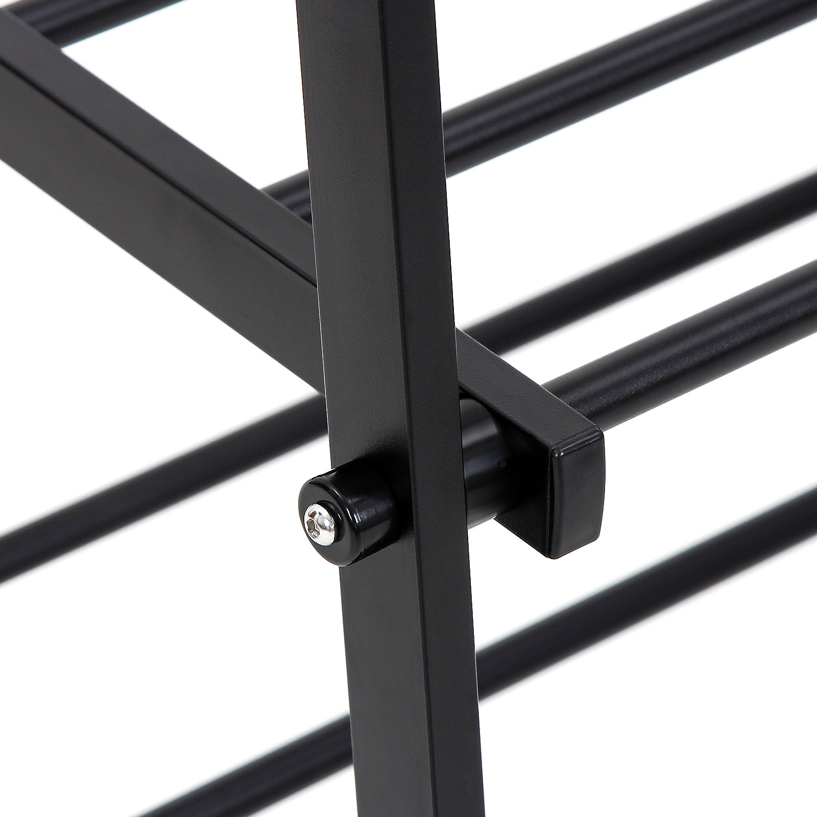 SONGMICS Clothing Garment Rack with 2-Tire Shelf for Shoes Clothes Storage Black URCR22B by SONGMICS (Image #6)