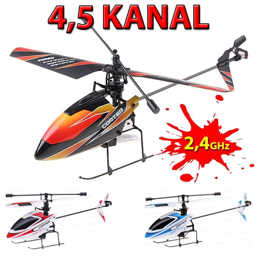 4.5 Kanal Single-Rotor RC ferngesteuerter Hubschrauber mit 2.4GHz-Technik und Gyro-System inkl Ready-to-Fly Akku und Fernsteuerung