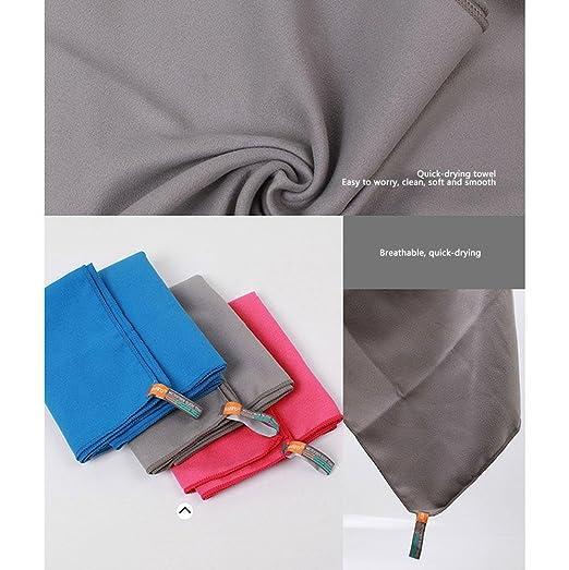 Pawaca toalla de microfibra, secado rápido, ligera, super absorbente, suave y libre de arena, toalla deportiva con bolsa para gimnasio, fitness, natación, ...