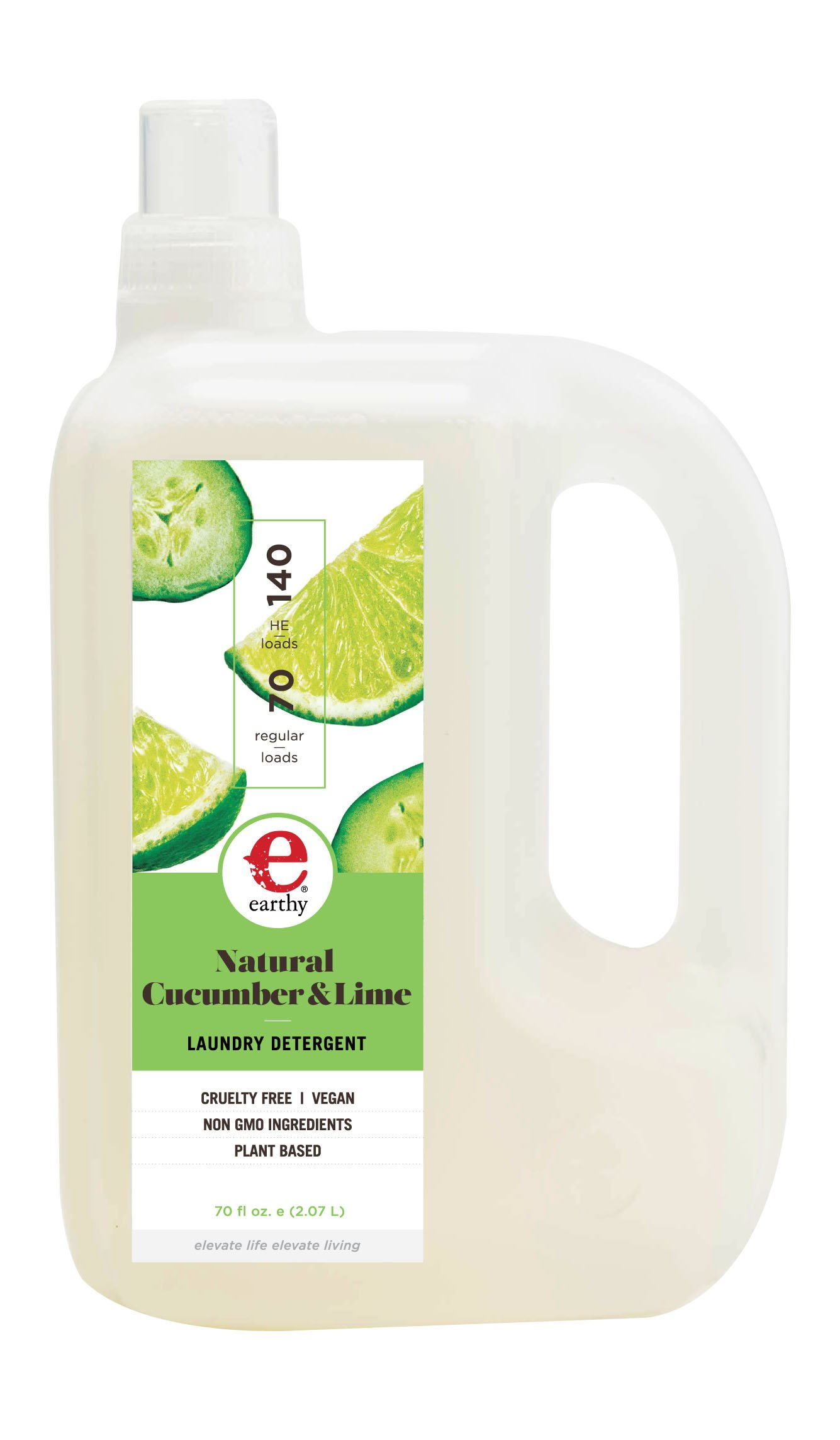 Earthy Natural Laundry Detergent, Cucumber & Lime, 70 Ounce