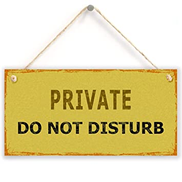 Amazon.com: Estilo clásico sign- Do Not Disturb Privada Para ...
