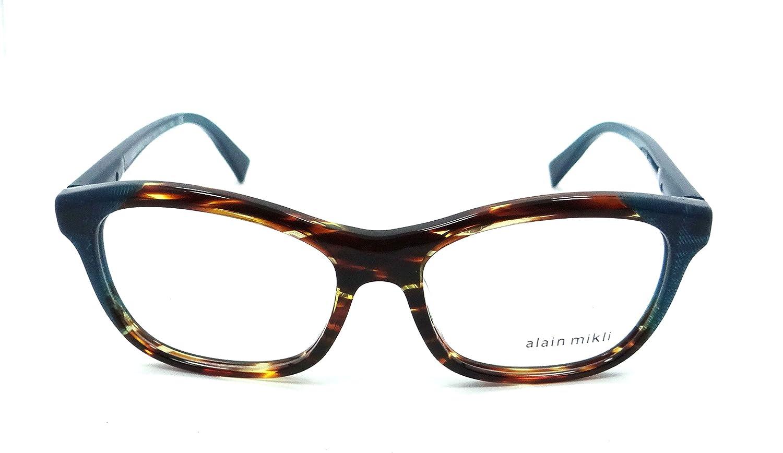 642db51e9a Amazon.com  Alain Mikli Rx Eyeglasses Frames A03068 F114 53-16-140  Havana Dot Petroleum  Clothing
