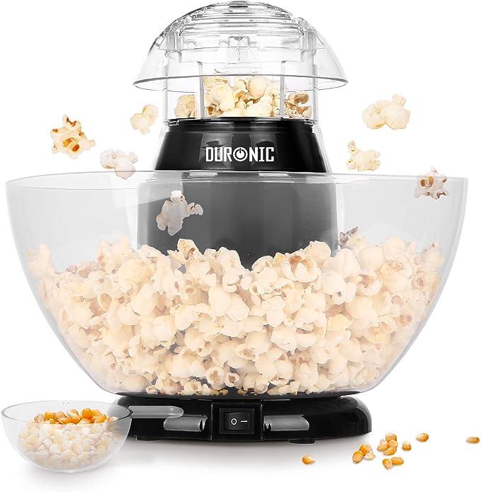 Duronic POP50 Máquina para Hacer Palomitas 1200W Sin Aceite - Taza medidora y Recipiente sin BPA Incluido - Listo en 3 Minutos: Amazon.es