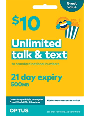 Optus Prepaid $10 Voice Starter Kit: Amazon com au: Electronics