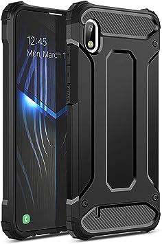 Coque pour Samsung Galaxy A10, WE Love Case Coque de Protections Double Couche Dur PC Souple Silicone Étui Slim Armor Antichoc Pare-Chocs ...