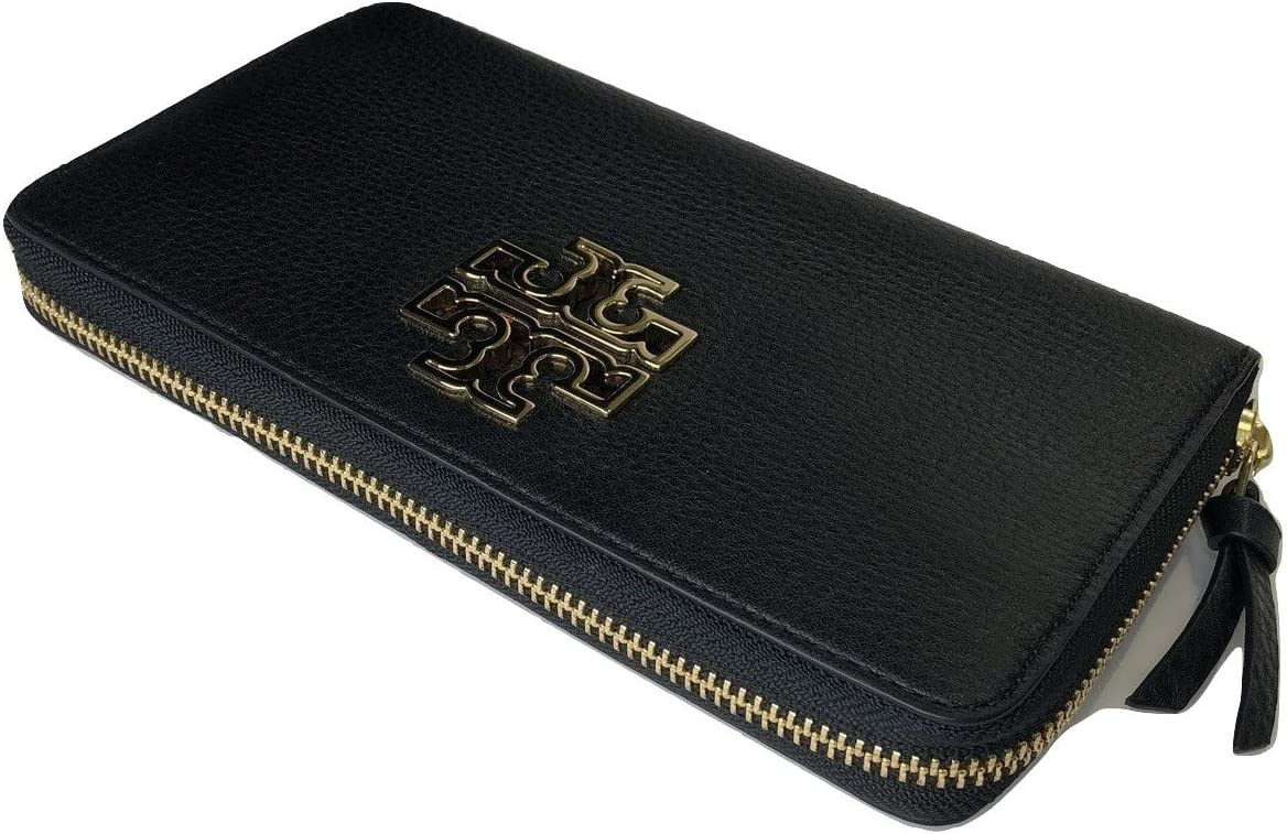 Tory Burch Britten Zip Continental Wallet (Black)