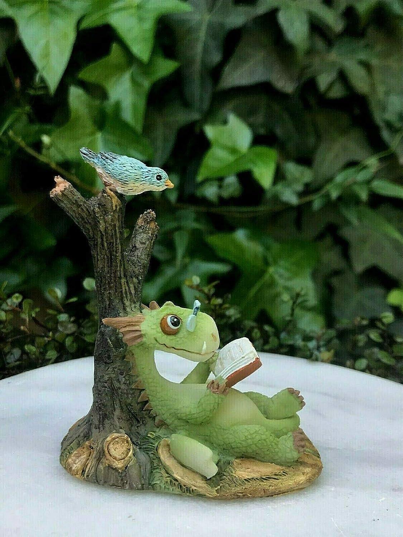 Miniature Dollhouse FAIRY GARDEN Accessories Dragon Reading