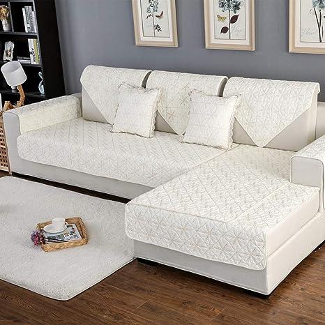 Funda Reversible para sofá de algodón con Bordado para Todas ...
