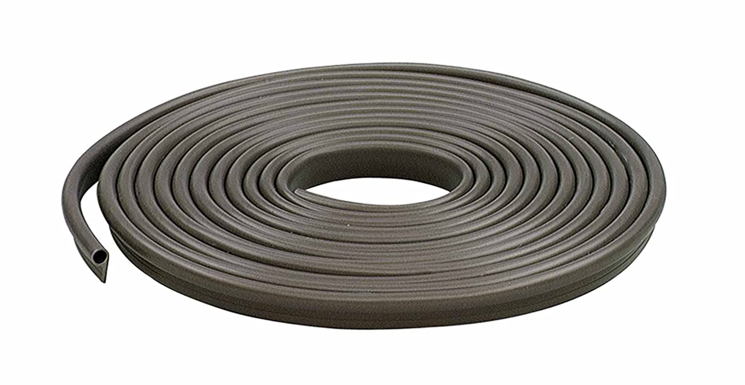 M-D Building Products 78196 Vinyl Gasket Weatherstrip, 1/2-Inch-by-17 Feet, Brown, 1/2' x 17',