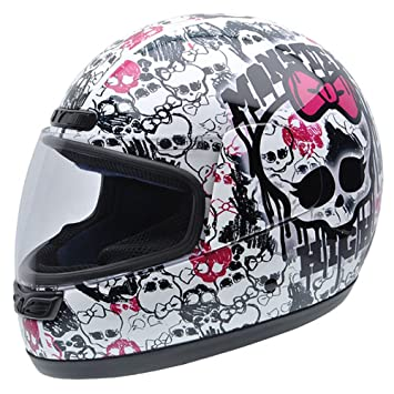 NZI Class Skulls by Monster High Casco de Moto, Dibujos y Logotipos Monster High,