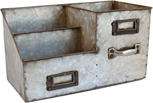 Colonial Tin Works Three Bin Desk Organizer