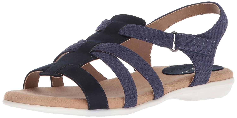 [LifeStride] Women's Baylee Flat Sandal [並行輸入品] B0775VF763 9 W US|ダークブルー ダークブルー 9 W US