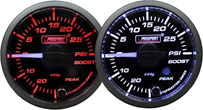 Boost Gauge-Electrical Amber/white Premium