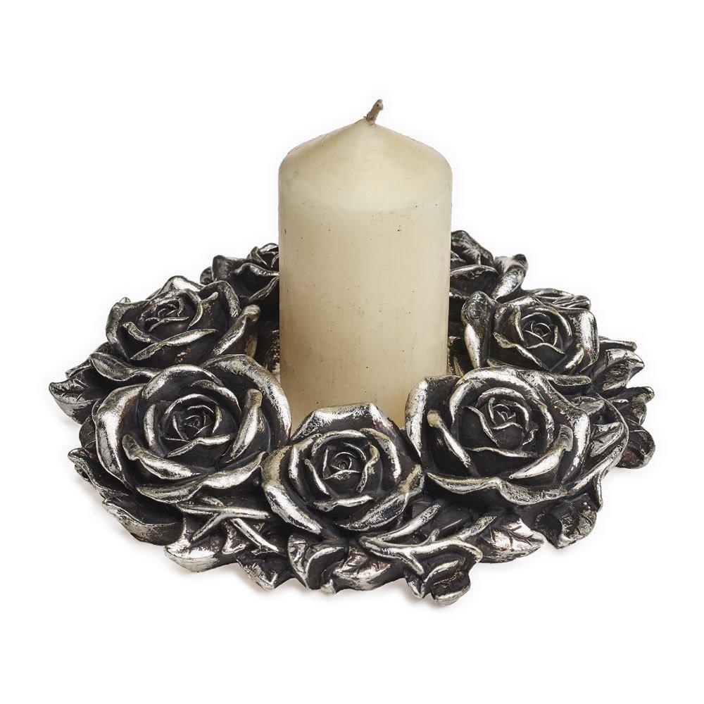 Argent/é Alchemy Gothic Black Rose Couronne de Fleurs
