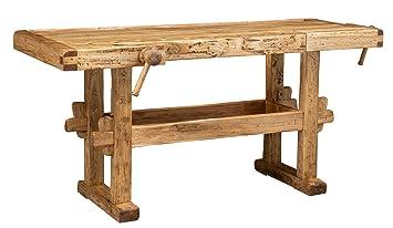 Banco da lavoro Country in legno massello di tiglio finitura ...