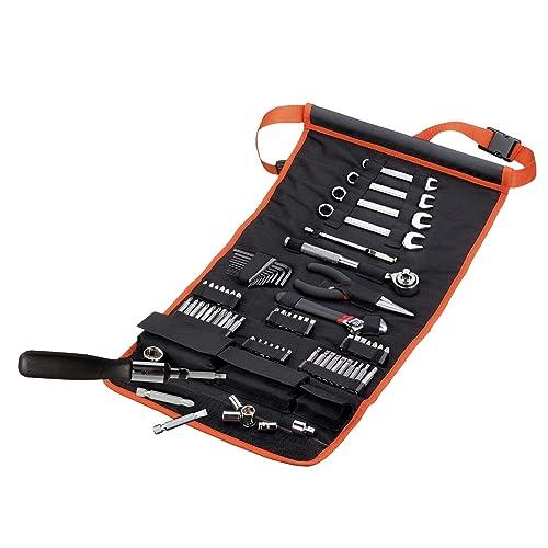 Black + Decker A7063 76-teilig Handliche Roll-Tasche mit Autowerkzeug-Zubehör